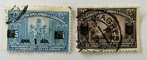 Yugoslavia-Kingdom-of-Serbs-Croats-and-Slovenes-Stamps-x-2-1922