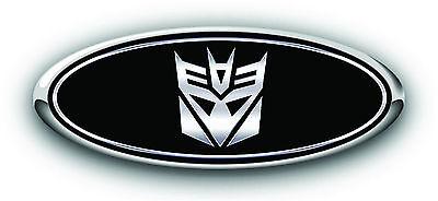 Ford F150 2006-2013 GRILLE Transformers Decepticon Overlay Emblem Decal B//BLU