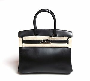 39f840799ac Image is loading HERMES-BLACK-EPSOM-BIRKIN-30-PHW