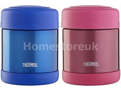 GENUINE THERMOS PINK FLASK JAR HOT COLD FOOD SNACK LUNCHBOX BABY SCHOOL KID GIFT