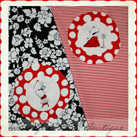 Boneful Fabric Lot Cotton Quilt Andover Olivia The Pig Red Stripe Flower