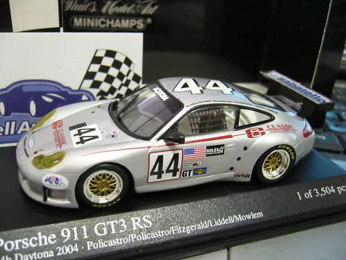 Porsche 911 996 gt3 rs  44 Daytona 2004 Fitzgerald pma Minichamps 1 43