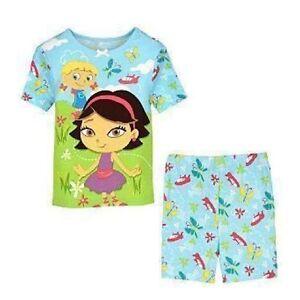 8419ef5ae999 Little Einsteins Pajamas PJ June Annie Pat Rocket Top Shorts Set 2 ...