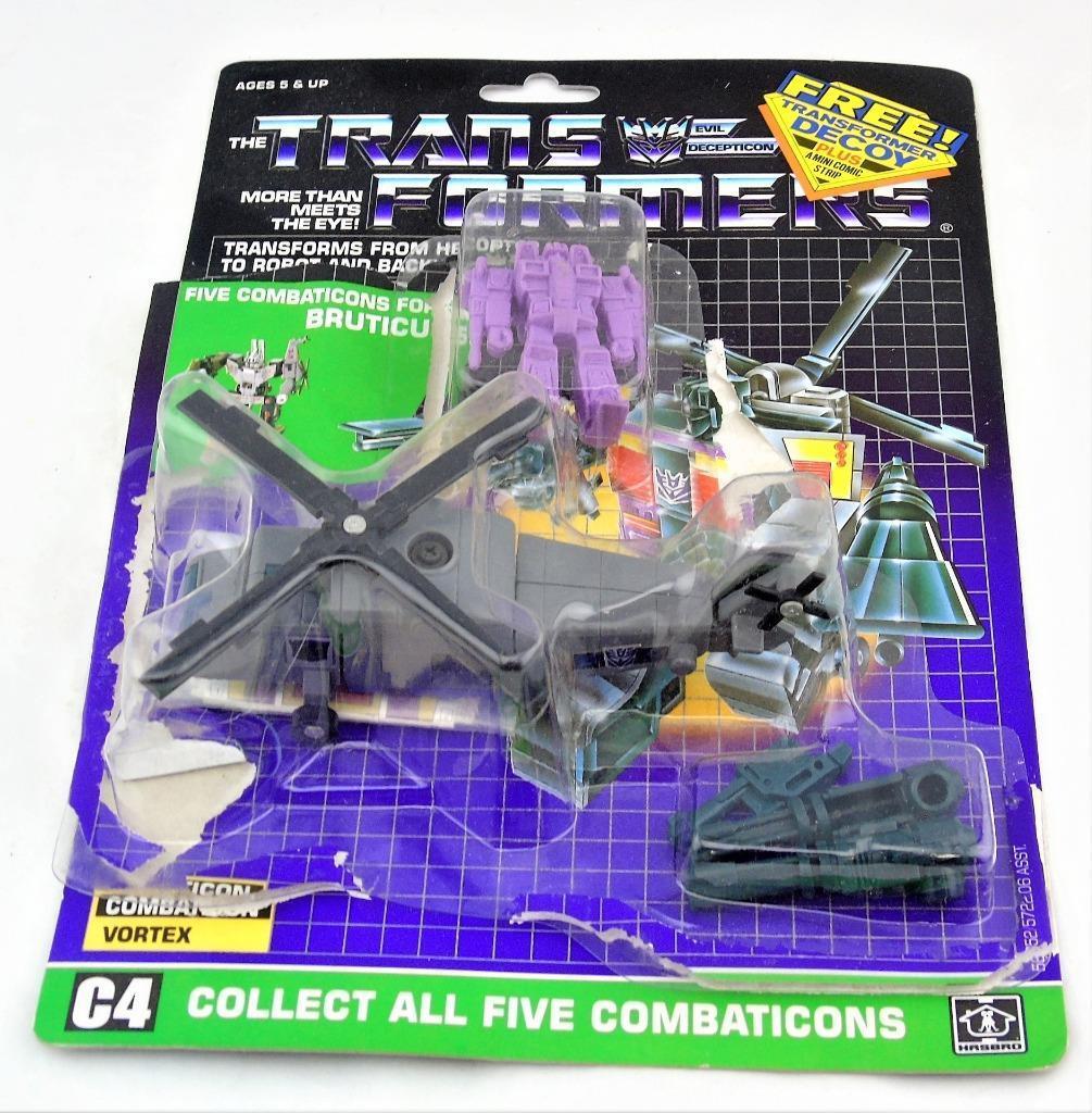 Transformers  G1 ORIGINAL 1986 Combaticon Vortex Complet Autocollant voiturete bulle  pas de taxes