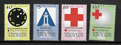Antilles Mnh/um Red Cross See Scan With The Best Service Nvph 1141-44 w1530 Neth