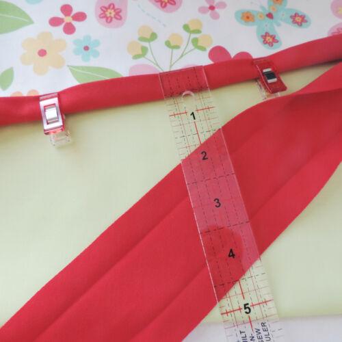 30mm JERSEY Handmade Extra Wide Bias Binding Tape ~ 94/% Cotton /& 6/% Elastane