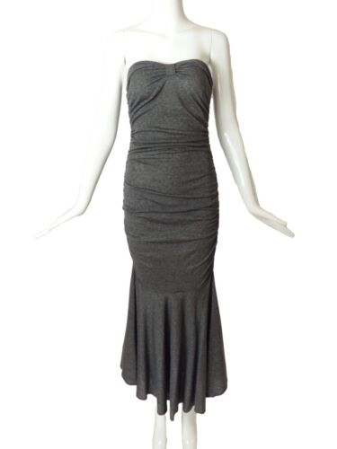 PATRICK KELLY-1980s Grey Shirred Knit Midi Dress,