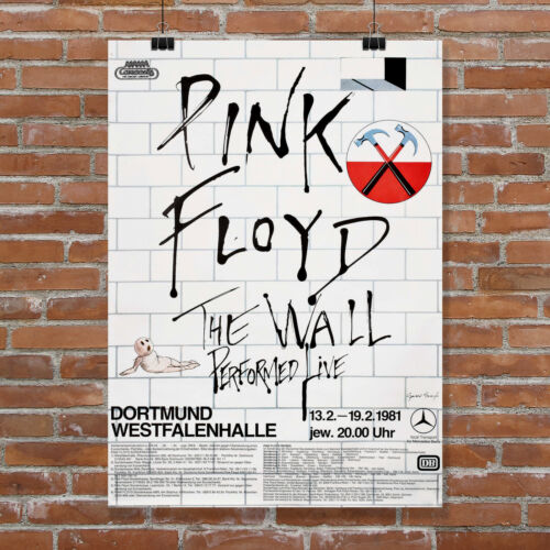 Pink Floyd the Wall Concert Poster Germany Canvas Art Print Wall Decor