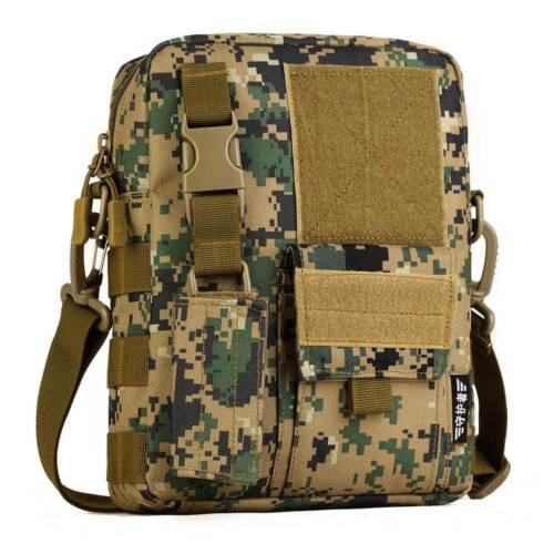 Mens Tactical Sling Bag Messenger Shoulder Military Molle Outdoor Handbag Hiking