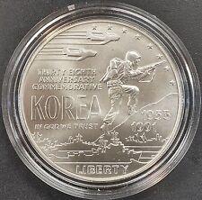 1991 D Uncirculated Korean War Memorial Silver Coin! Box and COA!