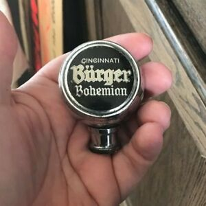 VINTAGE-BURGER-BOHEMIAN-BEER-BREWING-BALL-TAP-KNOB-HANDLE-CINCINNATI-OH-OHIO