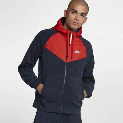 Nike MEN'S Sportswear Polar Fleece Full Zip Windrunner SIZE LARGE BRAND NEW | eBay