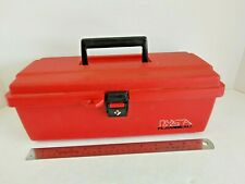 Vintage Flambeau Products 1988 Tool Box With Tray 14 Red 15442