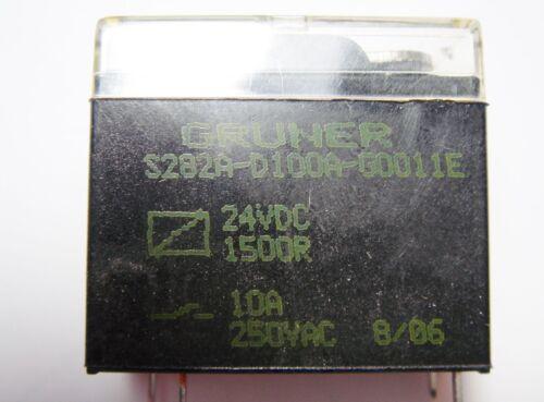 Relais 24V 1xEIN 250V 10A GRUNER S282A-D100A-G0011E #20R11/%