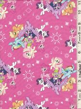 My Little Pony Ponies Hasbro Camelot cotton fabric Half yard BTHY Pink Berry