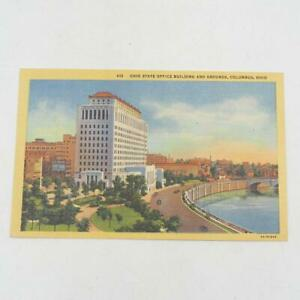 Vintage-Ohio-State-Building-amp-Grounds-Columbus-Ohio-Postcard