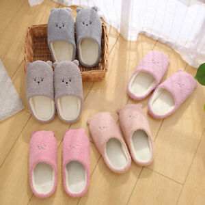 Women Colorful Plush Slippers Slip On Soft Winter Warm Ladies Home Indoor Shoes