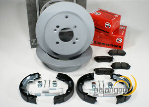 Bremsscheiben Bremsen Bremsbel/äge Handbremsbacken Zubeh/ör f/ür hinten die Hinterachse