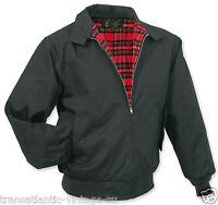 Surplus King George Classic 59 Harrington Mod Skin Ska Rockabilly Jacket Black