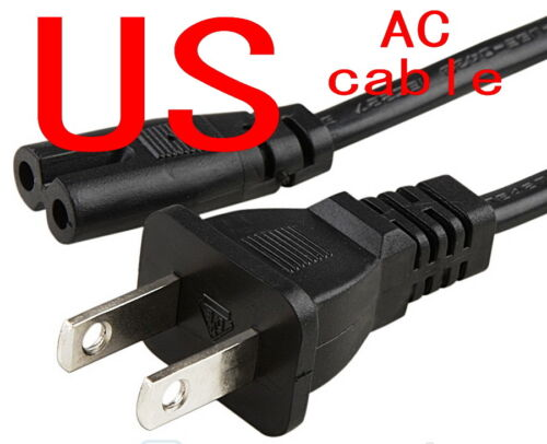 New AC power supply adapter cord Cable Connectors US USA 2 pin 2-prong 140cm