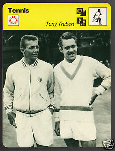 TONY-TRABERT-Tennis-Star-with-Kurt-Nielsen-Photo-1979-SPORTSCASTER-CARD-55-05A