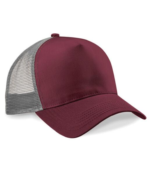 3265d9155c2 Beechfield Snapback Trucker Baseball Cap Hat Men Unisex Mesh ...