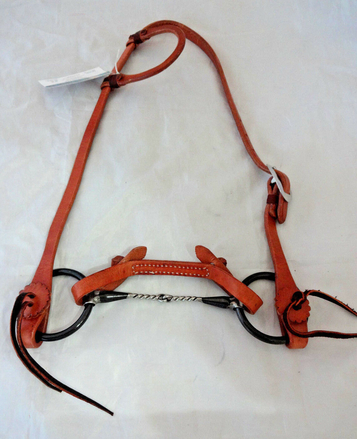 Billy Cook One Ear Harness Leather Horse Bridle Snaffle  Iron Twist Red River Bit  come to choose your own sports style