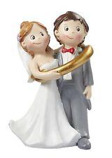 Lustiges Brautpaar im Ring Tortendeko Tortenaufsatz Tortenfigur Hochzeit
