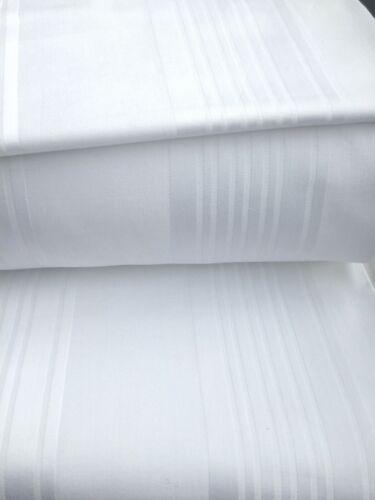 1500TC Egyptian Cotton 1pc  FLAT SHEET Sateen White Multi Stripes