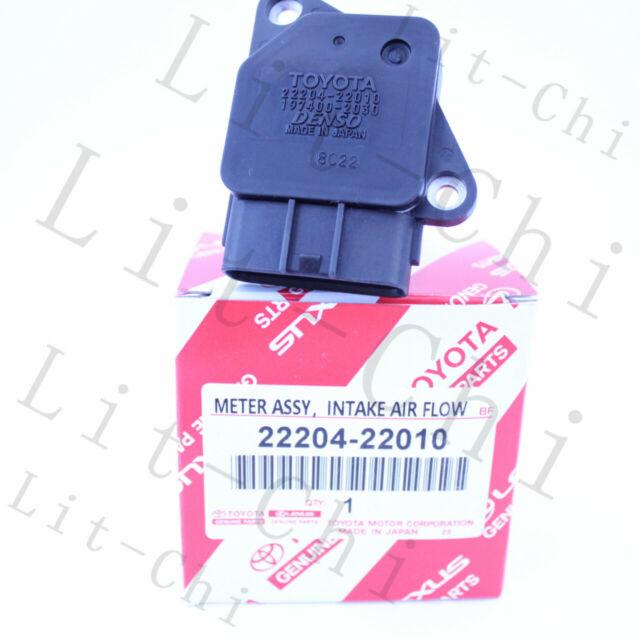 Genuine Denso 22204-22010 Mass Air Flow Meter MAF Sensor for Toyota Lexus Scion