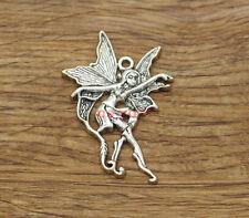 5 Fairy Charms Antique Silver Tone SC1407