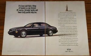 INFINITI J30 MAGAZINE ADVERTISEMENT PRINT AD A THING OF BEAUTY IS A JOY FOREVER
