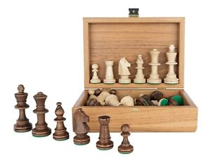 Tournament-Staunton-Chess-Pieces-in-Wooden-OLIVE-Box-3-5-King