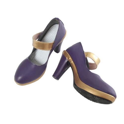 LOL League of Legends KDA Ahri Cosplay Shoes Pumps High Heels Shoes Cos Props