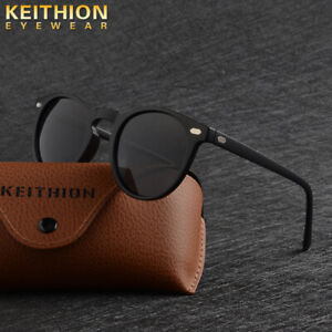 KEITHION-TR-90-Polarized-Men-Women-039-s-Sunglasses-Round-Driving-Outdoor-Eyewear