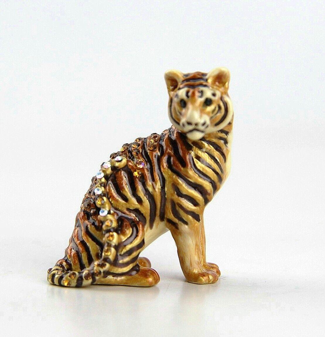 Jay Strongwater selva Anthony Tiger Mini Estatuilla cristales de Swarovski Nuevo Caja