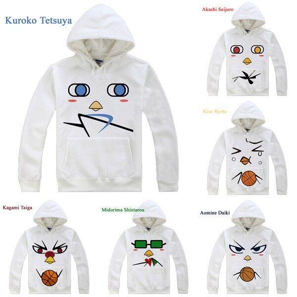 Anime Kuroko no Basuke Coat Amine Cosplay Costume Unisex Hoodie