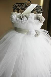 beautiful tutu dress with matching headband and belt colors can be customized
