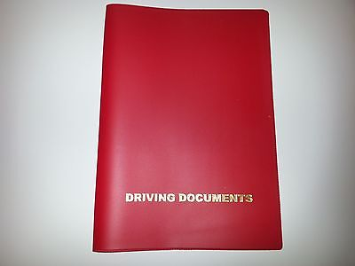 A5 Red Car Document Holder Holder With Card Pocket A Great Variety Of Models