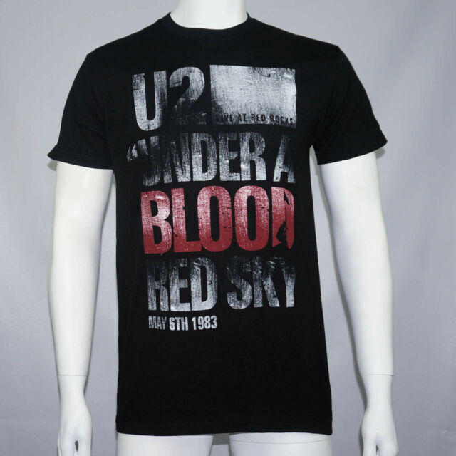 Authentic U2 Under A Blood Red Sky T-Shirt S M L XL 2XL Official NEW