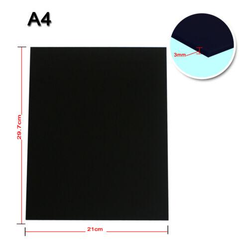 2PCS A4 Black Plastic Acrylic Sheet 3mm For DIY Design Laser Engraving Cutting