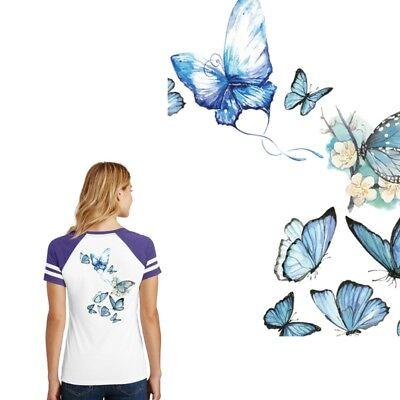 Appliques Butterfly Patch Iron On DIY T-shirt Dress Heat Transfer Sticker Craft