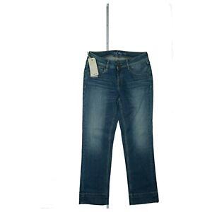 SCHOOL-RAG-Sommer-Short-Bermuda-Capri-Jeans-stretch-3-4-Hose-slim-W28-Blau-NEU