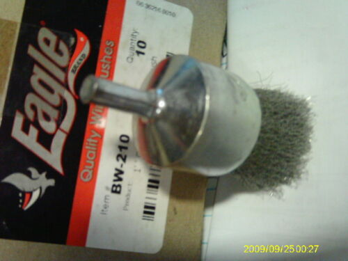 """EAGLE BW-210 1/"""" X .006 X 1 CRIMPED WIRE END BRUSH  BOX OF 10"""