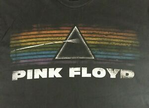 Pink-Floyd-Dark-Side-of-the-Moon-T-Shirt-Large-Black-Distressed-Music-Rock-Prism
