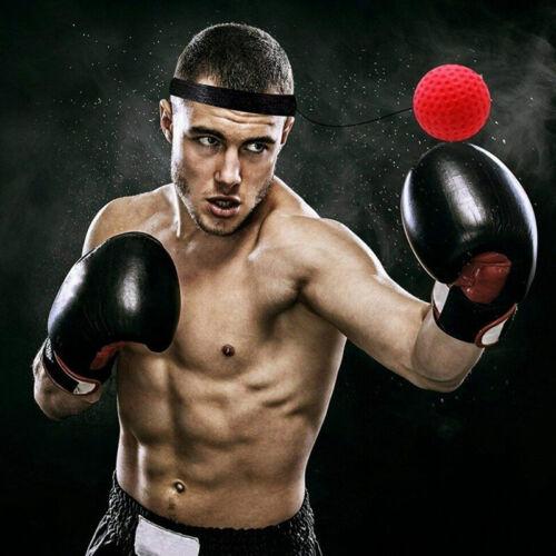 Fight Ball Reflex Boxing React Training Boxer Speed Punch Head Cap String Ball