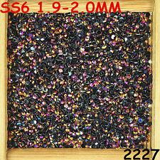 7000pcs SS6 Rose gold AB Non Hotfix Crystal Acryl Rhinestone Beads Flatback