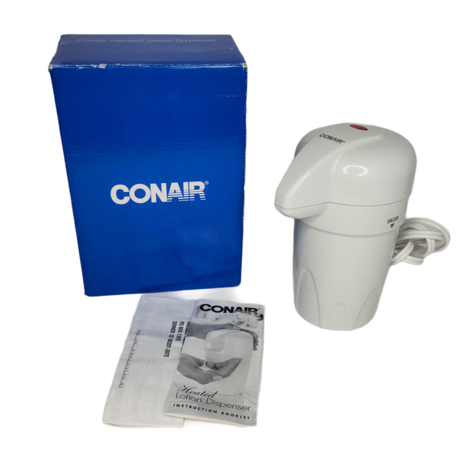 CONAIR Heated Hot Lotion Dispenser Warmer Body / Hand / Baby HLD22 Avon Open Box
