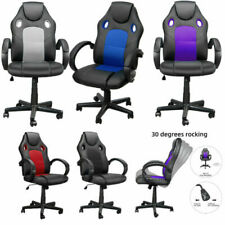 Swivel Office Executive Home Chair Pc Gaming Racing Sports Computer Pulley Desk