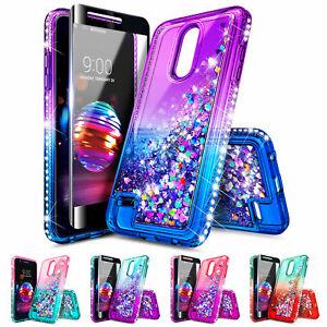 wholesale dealer ab6a1 9e38d Details about For LG Premier Pro LTE / K30   Glitter Liquid Bling  Shockproof Phone Cover Case